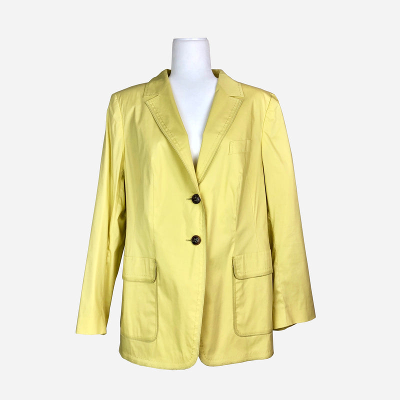 Escada Notch-Lapel Mustard Yellow Blazer