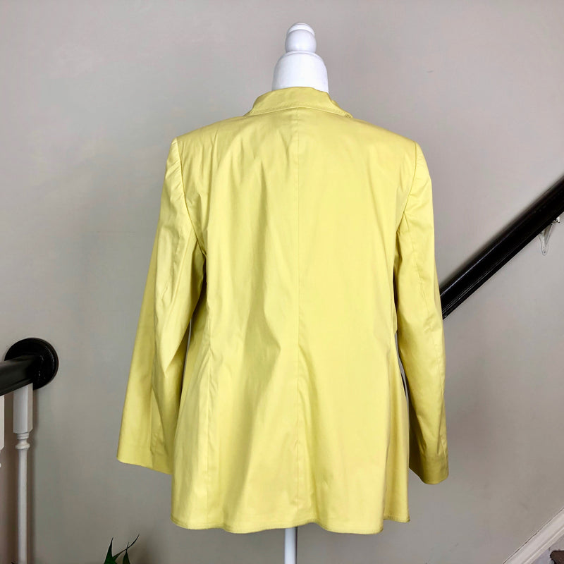 Yellow Notch-Lapel Blazer