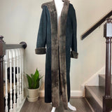 Black Shearling Floor-Length Coat