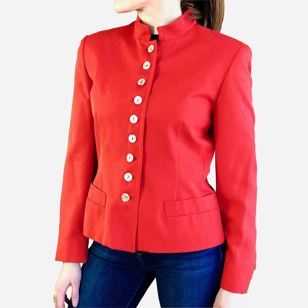 Red Silk Blazer