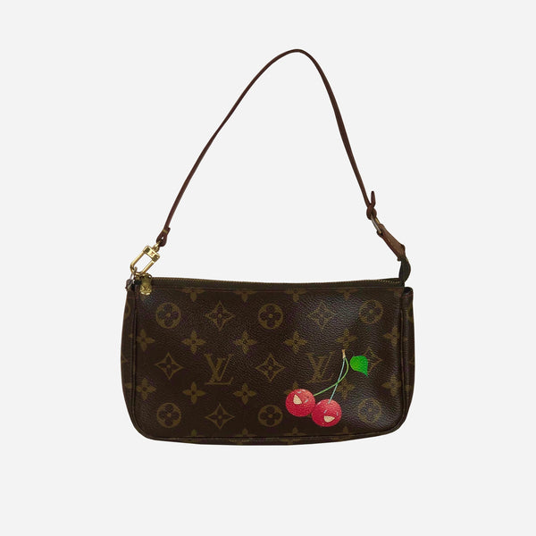 Brown and Tan Monogram Canvas Pochette Accessoires