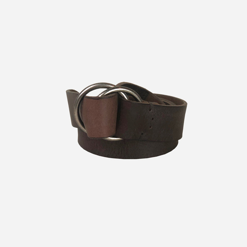 Brown Leather Adjustable Belt