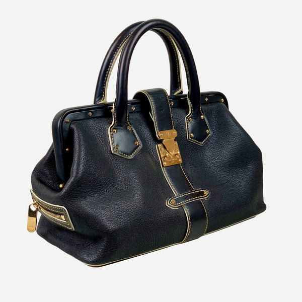 L'Ingenieux PM Black Suhali Leather Tote