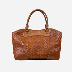 Box Genevieve Brown Leather Tote