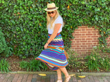 Multicolored Striped Knit Skirt