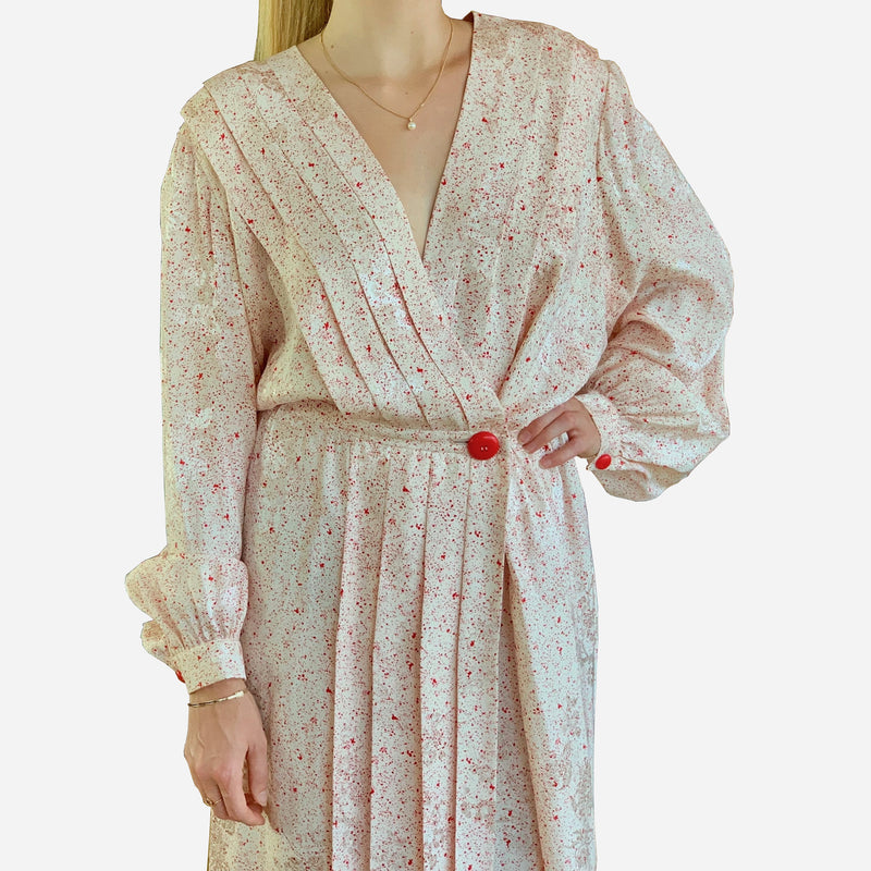 Vintage 1980s Lanvin Wrap Dress