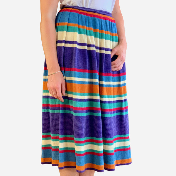 Vintage Missoni Multicolored Striped Knit Skirt