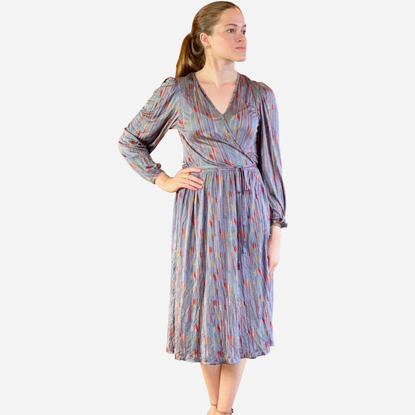 Vintage 1970s Missoni Wrap Silk Dress