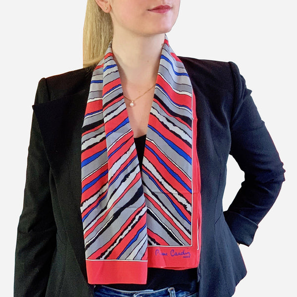 Multicolored Rectangular Silk Scarf