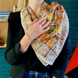 Multicolored Square Silk Scarf