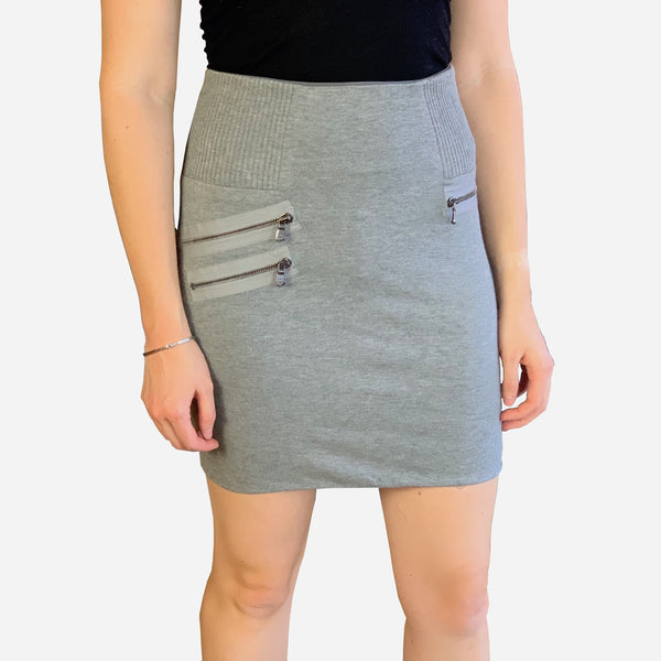 Gray Mini Bodycon Skirt