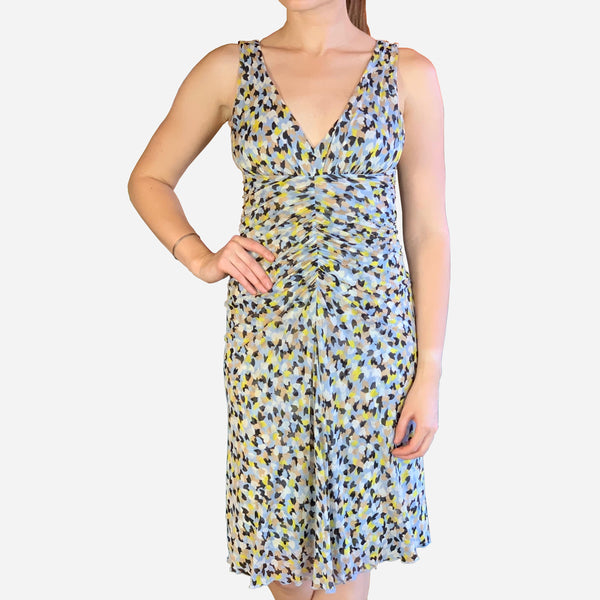 Diane von Furstenberg Aslin Sleeveless Silk Knee-Length Dress