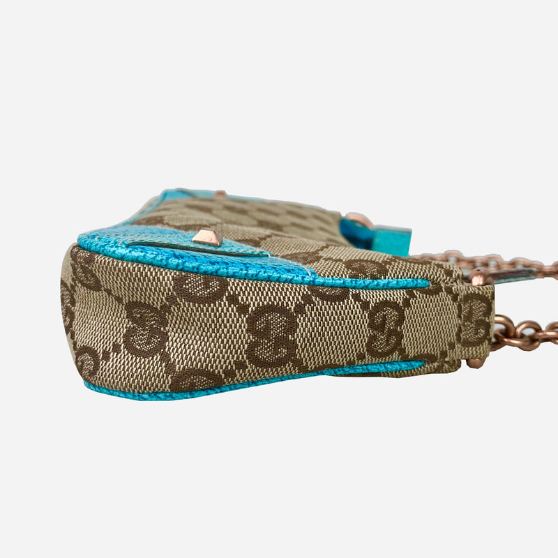 GG Monogram Canvas Nailhead Pochette