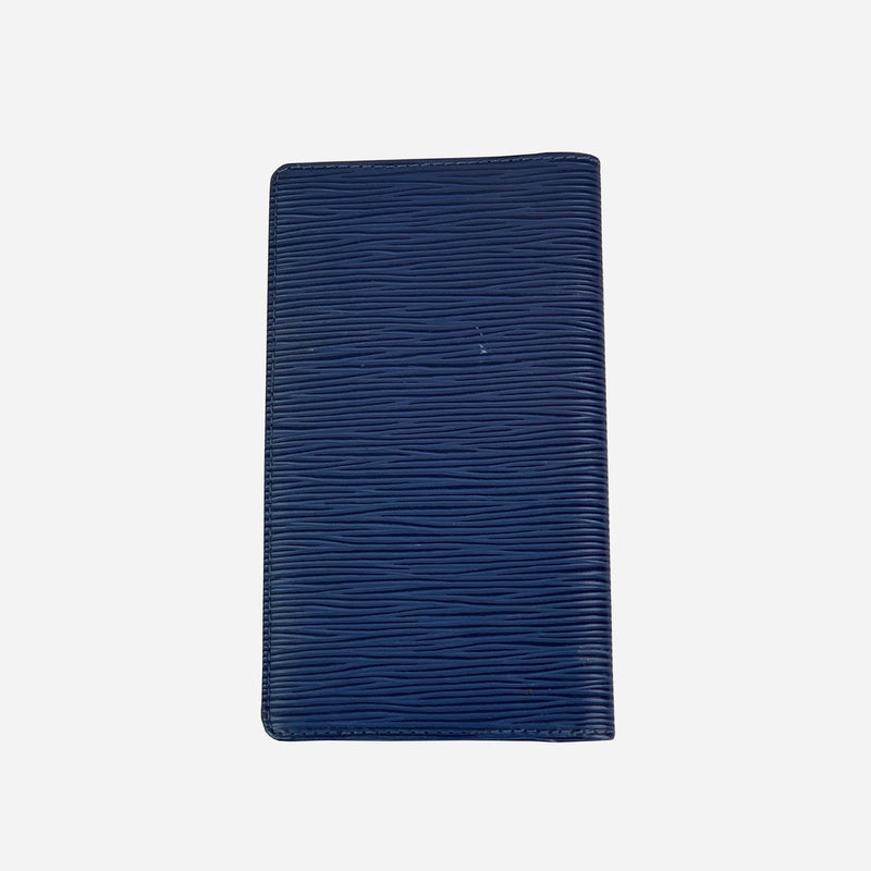 Louis Vuitton Blue Epi Leather Pocket Checkbook Cover