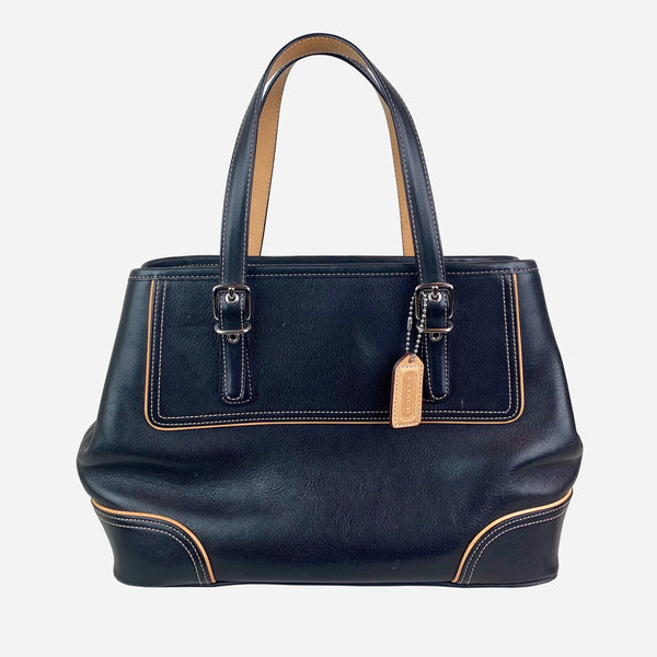 Black Leather Small Tote
