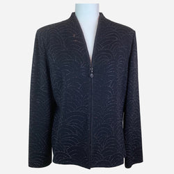 St. John Evening by Marie Gray Black Embellished Knit Evening Jacket
