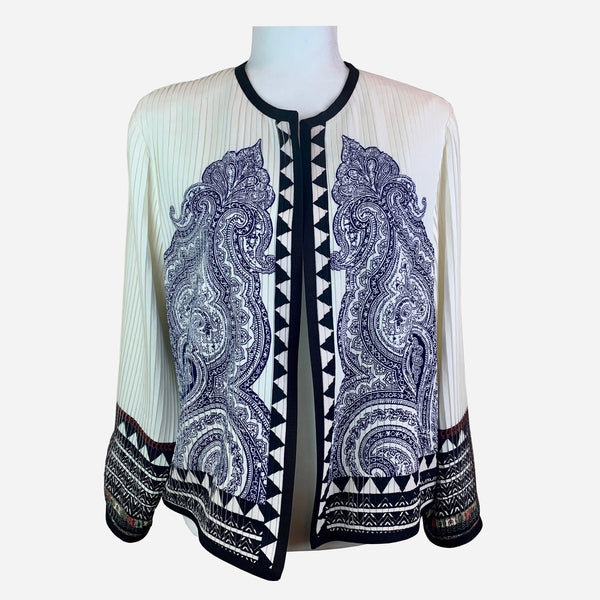 Etro Multicolor Lightweight Pleated Silk Jacket
