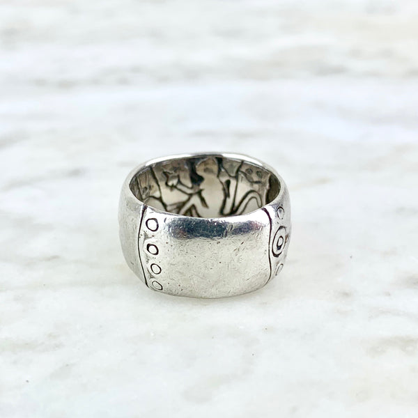 Sterling Silver Bamboo Band Ring