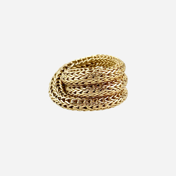 18K Yellow Gold Classic Chain Coil Ring
