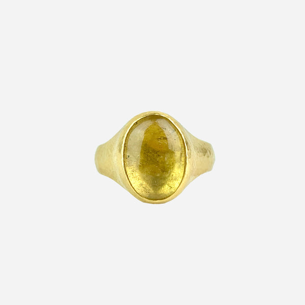 24K Yellow Gold and Beryl Cocktail Ring