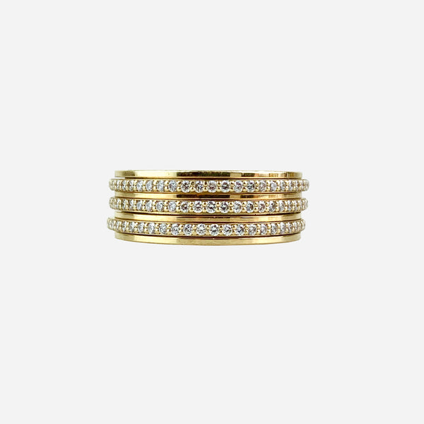 Piaget 18K Diamond Three-Row Possession Band Ring