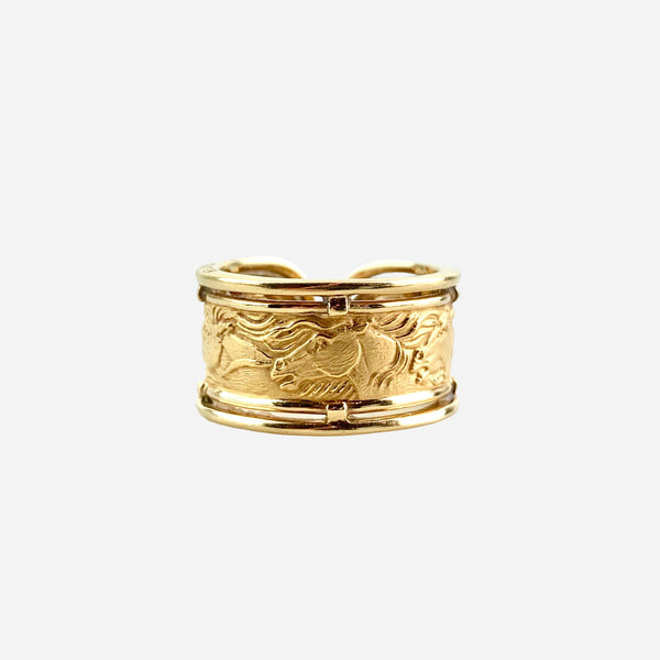 Carrera y Carrera 18K Ecuestre Band Ring