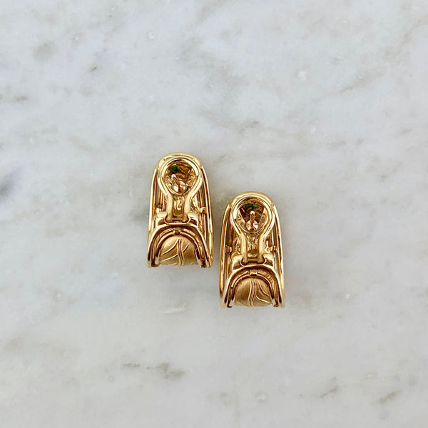 18k Ecuestre Ear Clips
