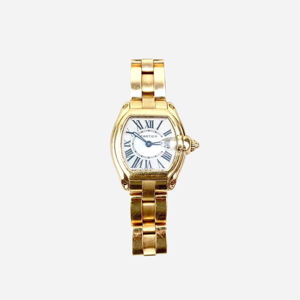 Cartier 18K Yellow Gold Roadster Watch