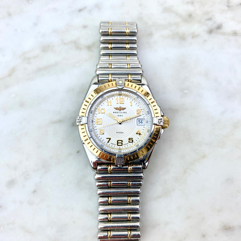 Stainless Steel and 18K Yellow Gold 'Wings' Automatic Watch