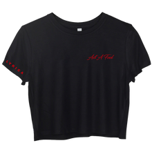 Load image into Gallery viewer, Act A Fool Pocket Logo - Short Sleeve Black Boxy Tee