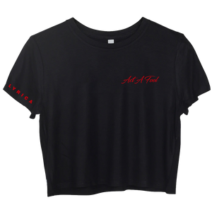 Act A Fool Pocket Logo - Short Sleeve Black Boxy Tee