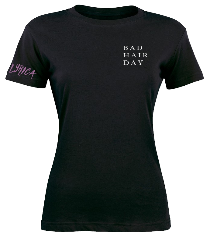 Bad Hair Day Text T-Shirt