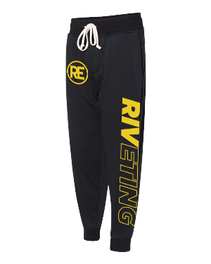 RIVETING SWEATPANTS (LIMITED EDITION) YELLOW PRINT