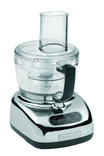 KitchenAid KFP740 9-Cup Food Processor with 4-Cup Mini Bowl, Chrome
