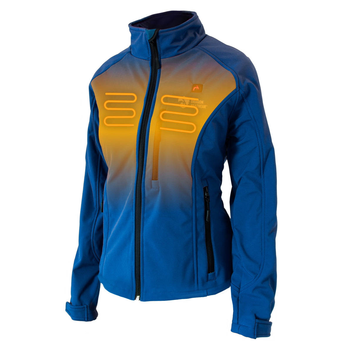 Wyvern Women's Heated Jacket Front View - Endeavor Color