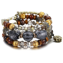 Load image into Gallery viewer, Multicolors Stone Beads Vintage Tibetan Ethnic Charms Bracelet.