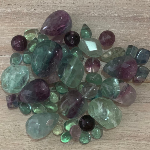 I CURRENTLY HAVE THESE GREEN, and PURPLE Fluorite GEMSTONES