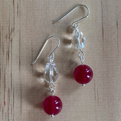 Malay Jade Fuchsia earrings