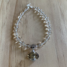 buy Recycled Smokey Quartz Glass Bead & Clear Quartz Bracelet online