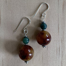 Load image into Gallery viewer, Agate Sterling Silver Earrings