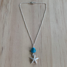 Load image into Gallery viewer, Sterling Silver Starfish Charm & Turquoise Anklet
