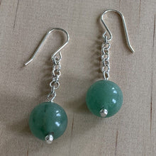 Load image into Gallery viewer, Green Aventurine Sterling Silver Earrings