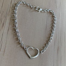 Load image into Gallery viewer, Sterling Silver Heart Bracelet
