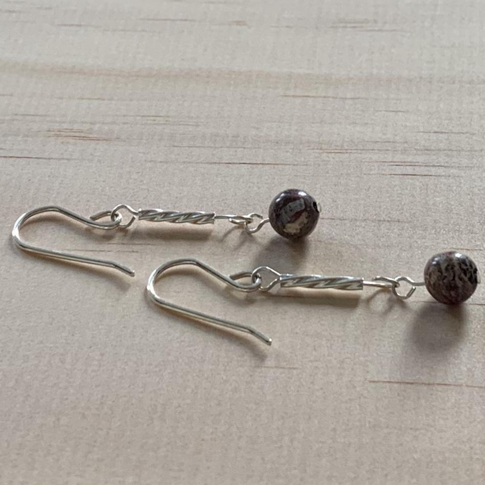 Jasper Sterling Silver Earrings - Empaness