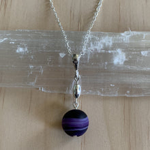 Load image into Gallery viewer, Handmade Sterling Silver Frosted Madagascar Agate Necklace