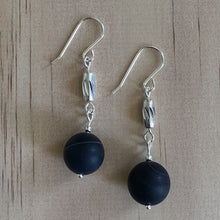 Load image into Gallery viewer, Recycled Beads & Madagascar Aagte Earrings