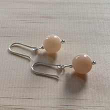 Load image into Gallery viewer, Recycled Pink Opal Sterling Silver Earrings