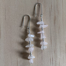 Load image into Gallery viewer, Recycled Rose Quartz Sterling Silver Earrings