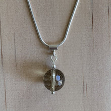 Load image into Gallery viewer, Smokey Quartz Sterling Silver Necklace