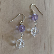 buy Clear & Purple Crystal Sterling Silver Earrings online